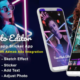 Android Neon Photo Editor with Whatsapp Sticker – Neon Spiral Light Effect (Android 10 Supported)